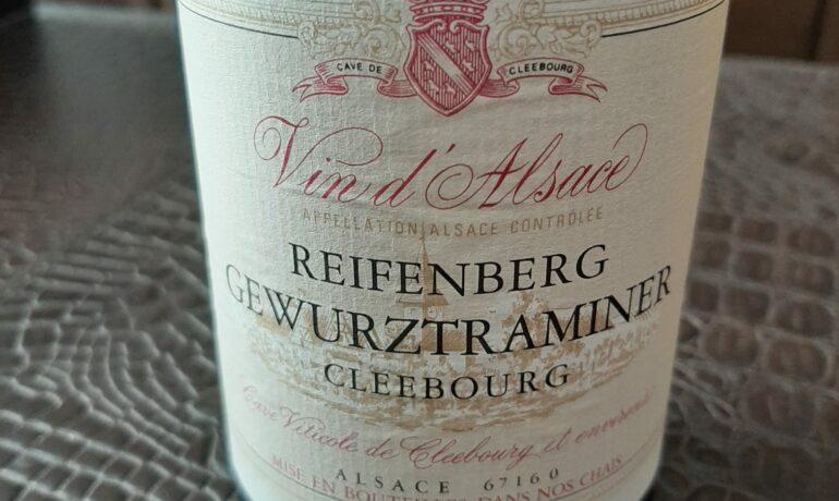 Reifenberg Gewürztraminer Cleebourg 2016. Los vinos de Otilio.